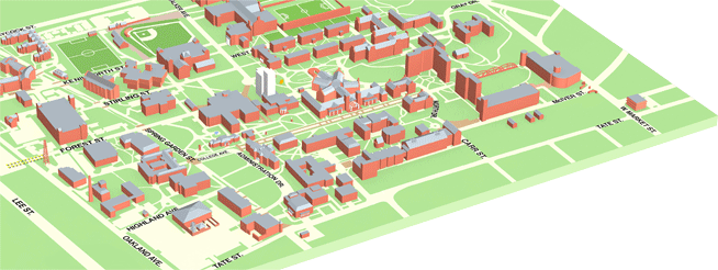 picture regarding Free Printable 3d Buildings referred to as Campus Maps, UNCG